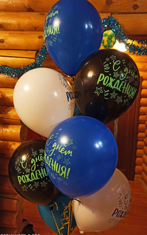 День рождения - шары с гелием.